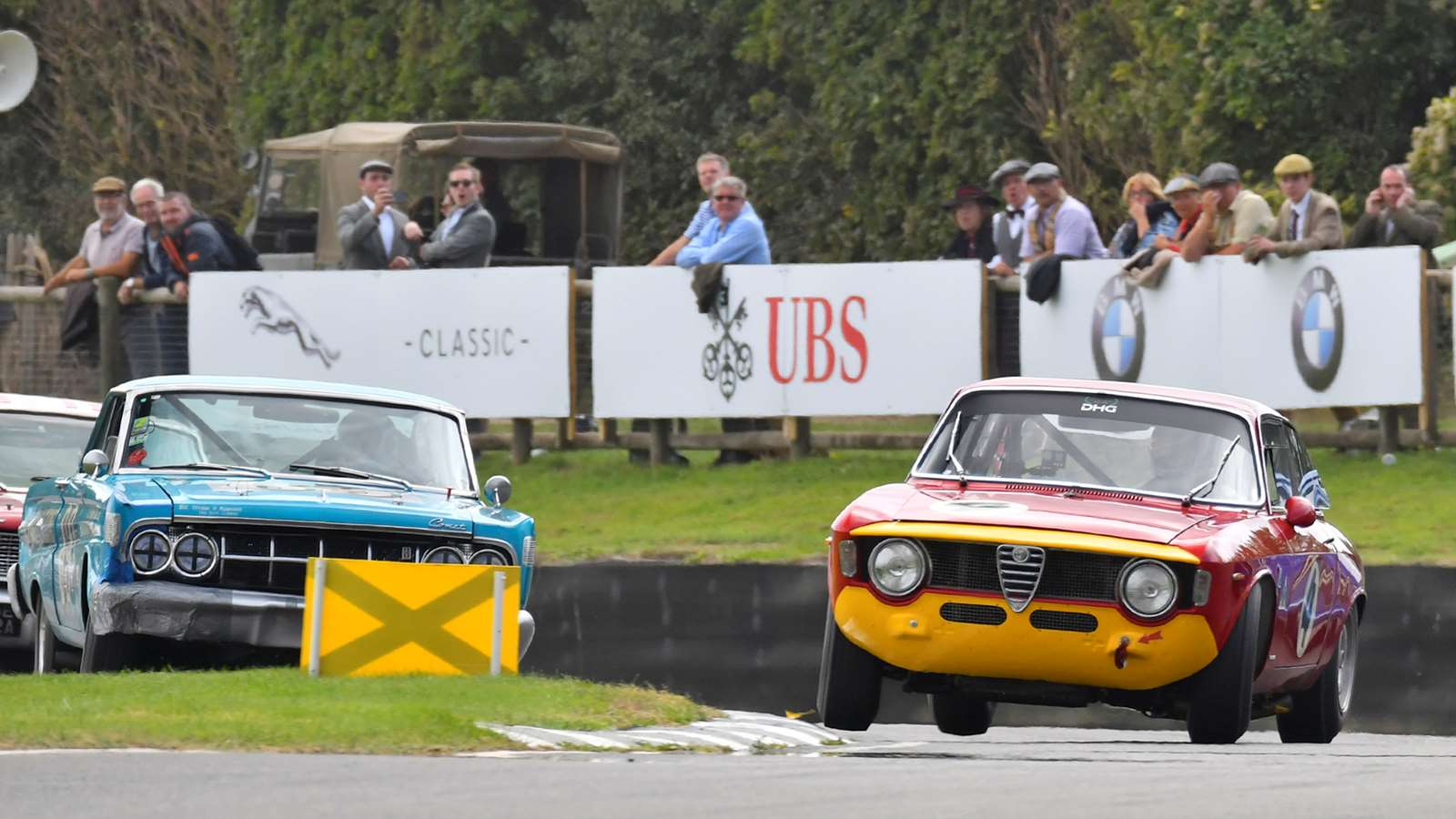 Goodwood Speedweek St Mary's Trophy Alfa GTA slide next to Cortina