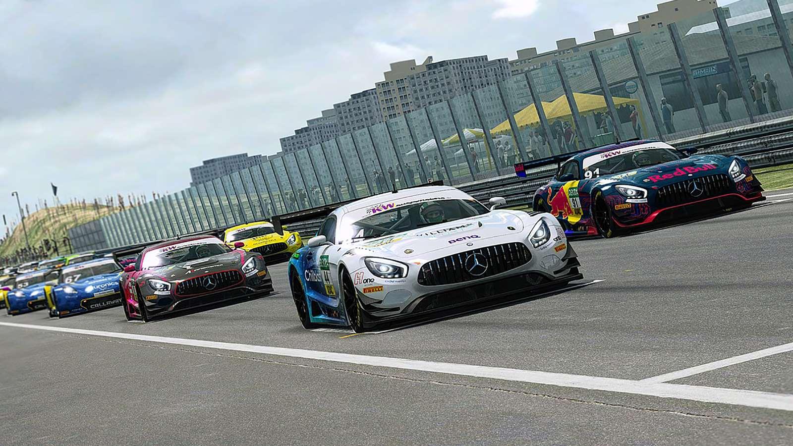 ADAC Masters esports Zandvoort race start