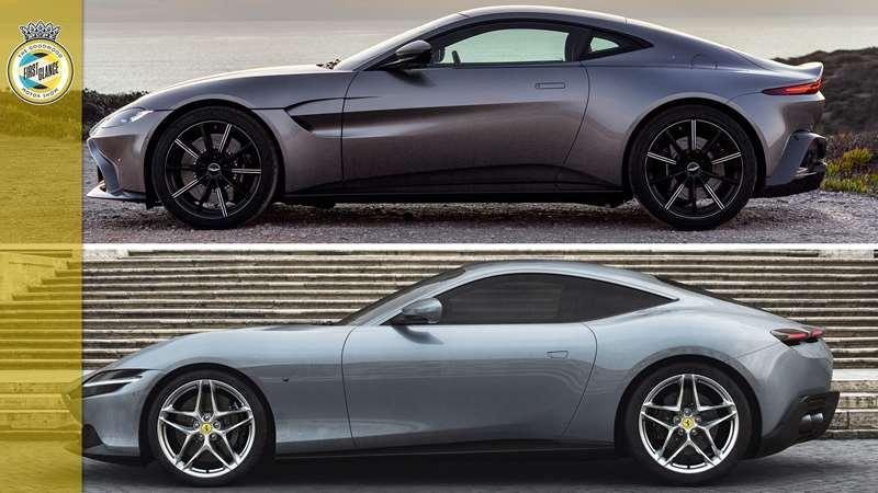 Ferrari Roma Versus Aston Martin Vantage The Numbers Grr